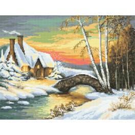 Předtištěná kanava - Zimní nálada