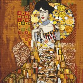Předtištěná kanava - Portrét Adele Bloch-Bauer - G. Klimt