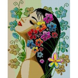 Předloha - Květiny ve vlasech