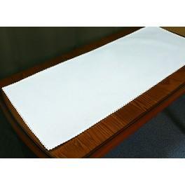 Běhoun Aida s krajkou 40x90 cm bílá
