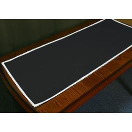 Běhoun Aida s krajkou 40x90 cm černá