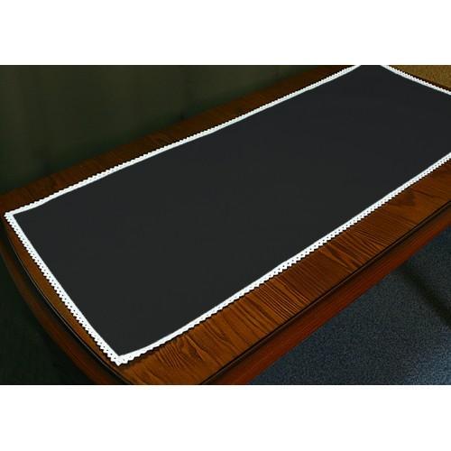 986-02 Běhoun Aida s krajkou 40x90 cm černá