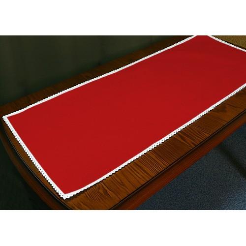 986-06 Běhoun Aida s krajkou 40x90 cm červená