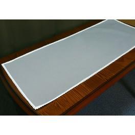 Běhoun Aida s krajkou 40x90 cm šedá
