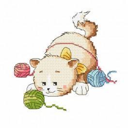 Vyšívací sada - Kočičí hrátky