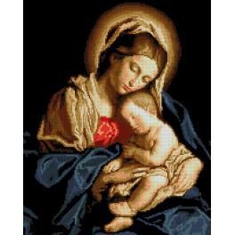 6089 Předtištěná kanava - Madona s dítětem