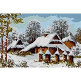 9213 Předtištěná kanava - Úly v zimě