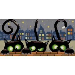6554 Předtištěná kanava - Tři kočičky
