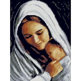 3081 Předtištěná kanava - Matka s dítětem
