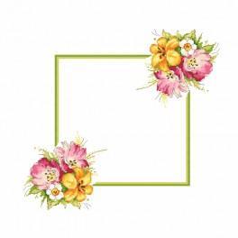Předloha - Ubrousek s jarní kyticí