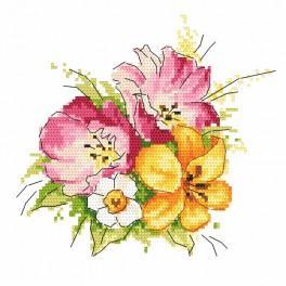Vyšívací sada - Jarní kytice