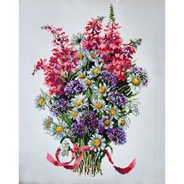 Vyšívací sada - Polní kytice