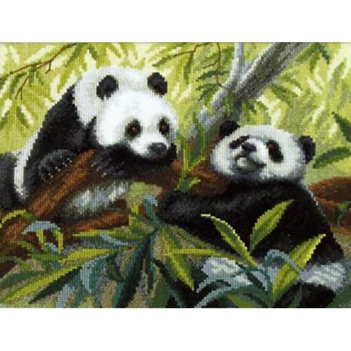 Vyšívací sada - Pandy