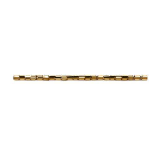 P 17050S-0,5/B Korálky Preciosa s metalízovanem průtahem, čípky (1 x 2mm)