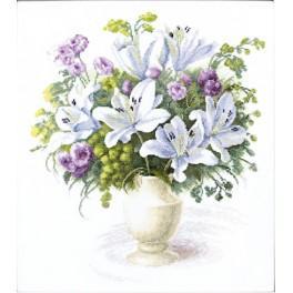 Vyšívací sada - Kytice bílých lilií