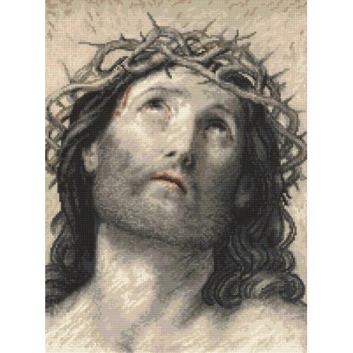 Z 8889 Vyšívací sada - Ježíš Kristus podle Guido Reni