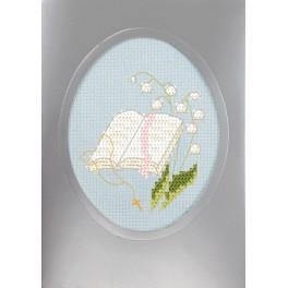 Vyšívací sada s mulinkou a přáníčkem - Přání k prvnímu přijímání - Bible