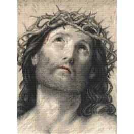 K 8889 Předtištěná kanava - Ježíš Kristus podle Guido Reni