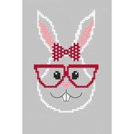 W 8900 Předloha on line - Přání - Hipster rabbit girl