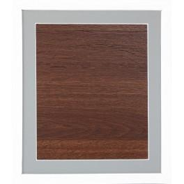 Dřevěný rámeček - bílá barva - paspartou šedá (23,5x27,5cm)
