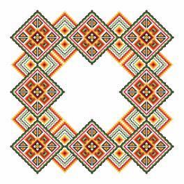 Předloha - Ubrousek- Barevné čtverce