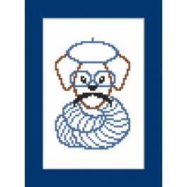Vyšívací sada - Přání - Hipster dog boy II
