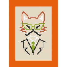 Vyšívací sada - Přání - Hipster fox boy