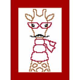 Vyšívací sada - Přání - Hipster giraffe boy