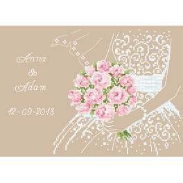Vyšívací sada - Svatební vzpomínka