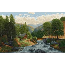 Předtištěná kanava - Horský potok