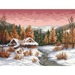 Předtištěná kanava - Zimní večer