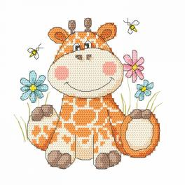 Předtištěná aida - Sladká žirafka