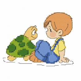 Vyšívací sada - Jeník a želvička