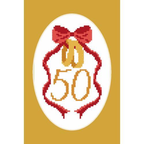 ZU 8905 Vyšívací sada - Přání - Zlatá svatba