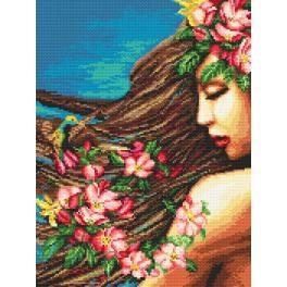 Předloha online - Květiny ve vlasech