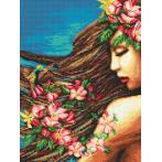 Předtištěná aida - Květiny ve vlasech
