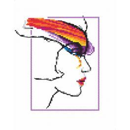 Vyšívací sada - Žena s duhou