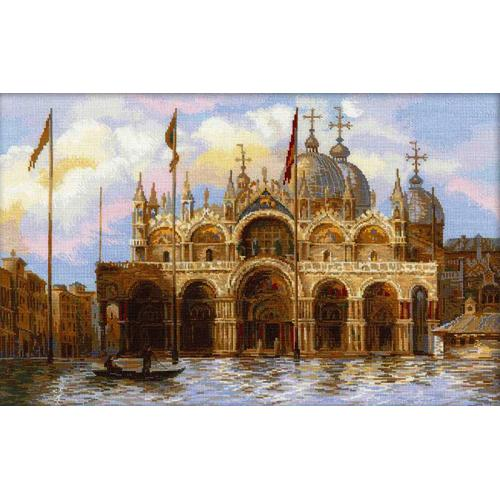 Vyšívací sada - Benátky. Náměstí svatého Marka