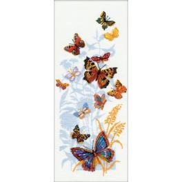 Sad s akrylovou příze - Ruští motýli