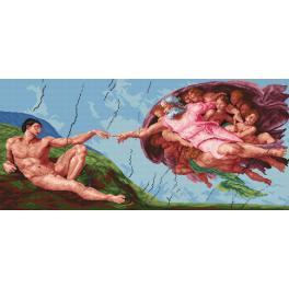 Předtištěná kanava - Stvoření Adama - Michelangelo