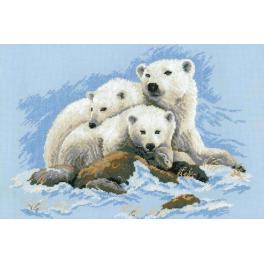 Sad s akrylovou příze - Lední medvědi