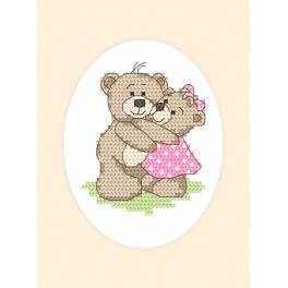 Předloha - Pohlednice - Medvídci
