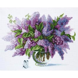 Vyšívací sada - Lilac flowers