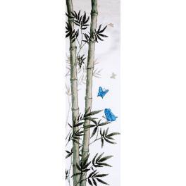 Vyšívací sada - Butterflies in bamboo