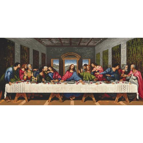 Vyšívací sada s mulinkou a podiskem - Poslední večeře - L. da Vinci