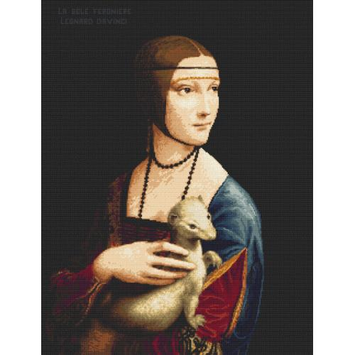 Vyšívací sada - Dáma s hranostajem - Leonardo da Vinci