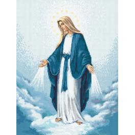 Sada s mulinkou a potiskem - Panna Marie Neposkvrněného početí