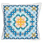 Vyšívací sada s povlakem na polštář - Polštář v marockém stylu V
