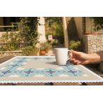Vyšívací sada s mulinkou a ubrouskem - Ubrousek v marockém stylu I