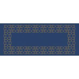Vyšívací sada s mulinkou a běhounem - Běhoun v marockém stylu III